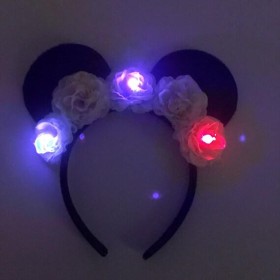 Light Up Mickey Mouse Headband Light Up Minnie Mouse Etsy