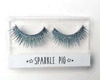 518ece39abb Unicorn Bio Glitter Lashes / Accent Eyelashes / Face Body Hair Beard Glitter  / Eco Friendly / Biodegradable Glitter