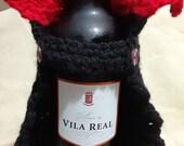 Cape Wine Bottle Cover, Dracula, Halloween Wine Lover Decor, Vampire, Hostess Gift, Teacher Appreciation, Free Sipping