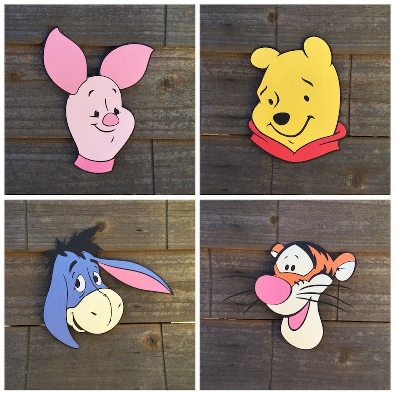 Winnie the Pooh and Friends HEAD cut outs