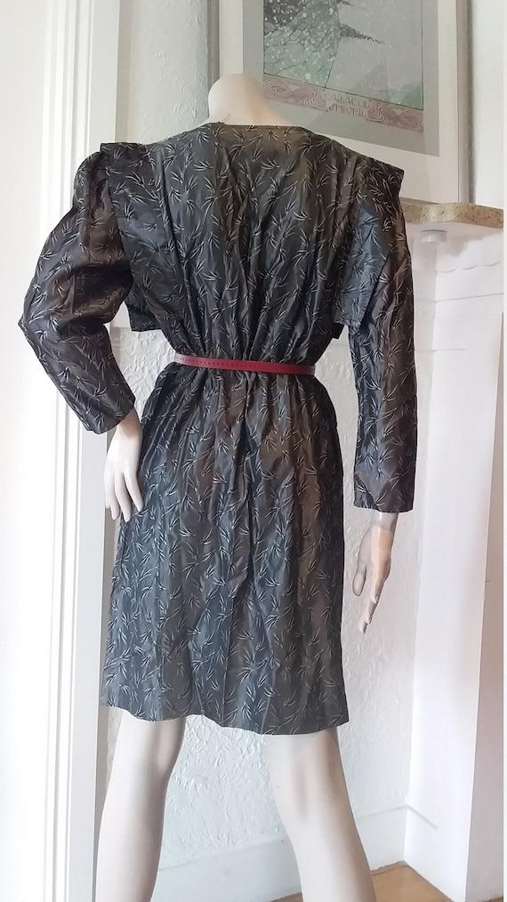 1980s vintage silver dress