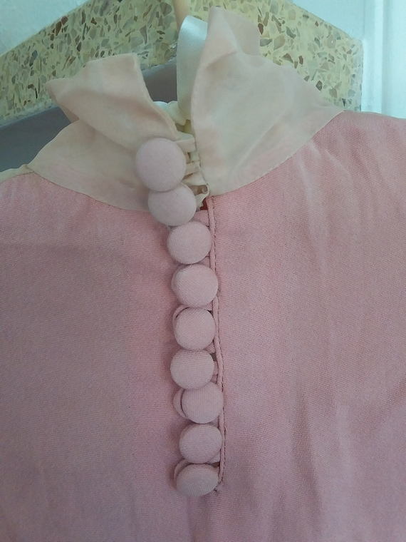 1930s dusty pink party dress