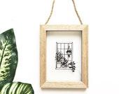 Papercut | Illustration | house plants | Botanical illustration | gift for plant lovers | handmade | wall art | Home decor | window