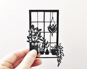 Papercut | Illustration | paperart | Botanical illustration | gift for plant lovers | handmade | wall art | Home decor | unique gift | art