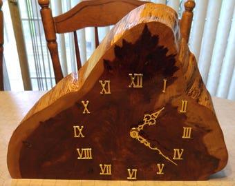 Cedar Mantle Clock