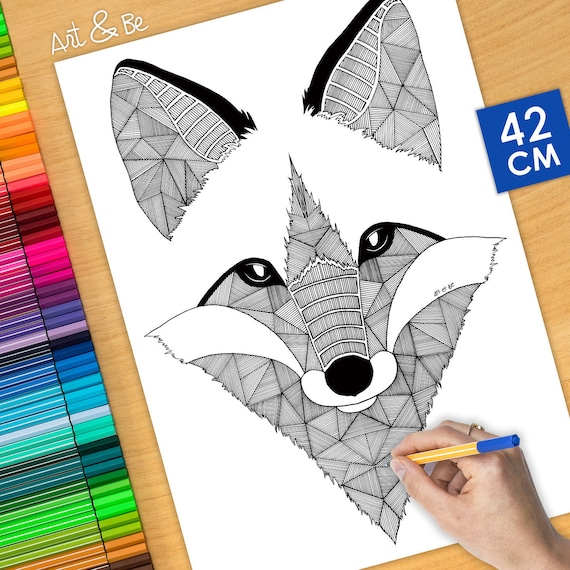 Coloring poster - WILD FO...