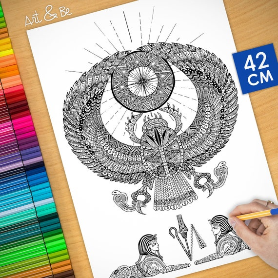 Coloring poster - EGYPTIA...