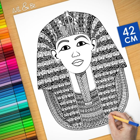 Coloring poster - TUTANKH...