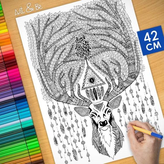 Coloring poster - MYSTICA...