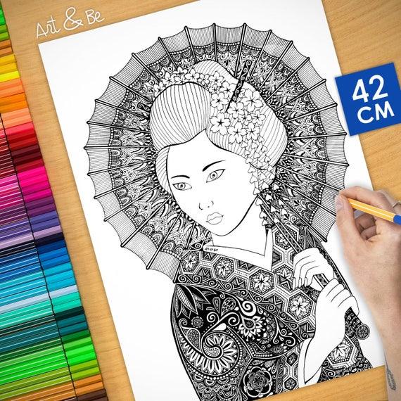 Coloring poster - GEISHA ...