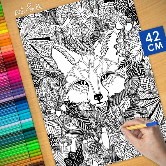 Coloring poster - FOX IN ...