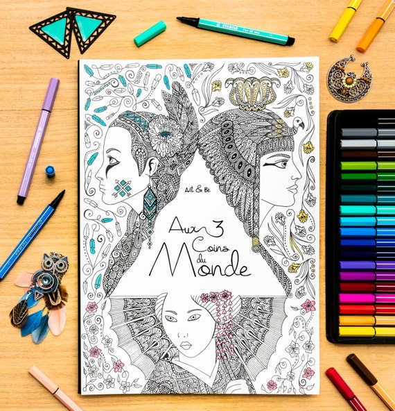 Coloring book - Aux 3 coi...