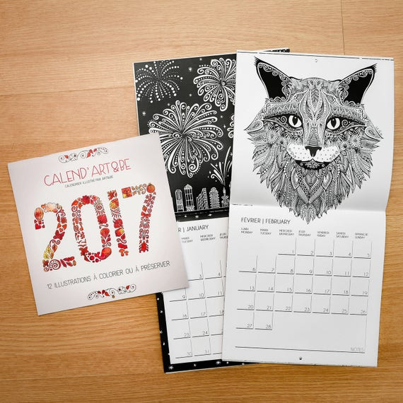 2017 Calendar for Colorin...