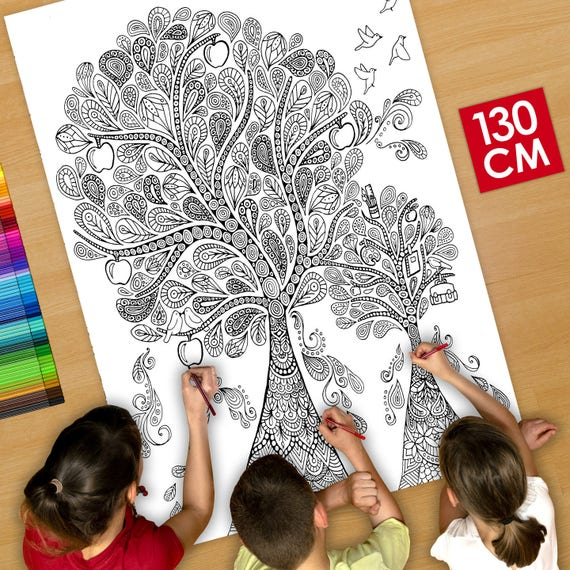 Cartel / deco Poster gigante para colorear 130cm niños de la | Etsy