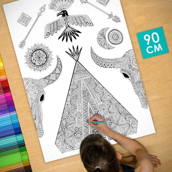 Coloring poster (35 in) N...