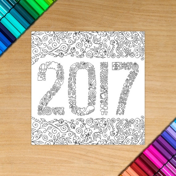2017 card - Coloring for ...