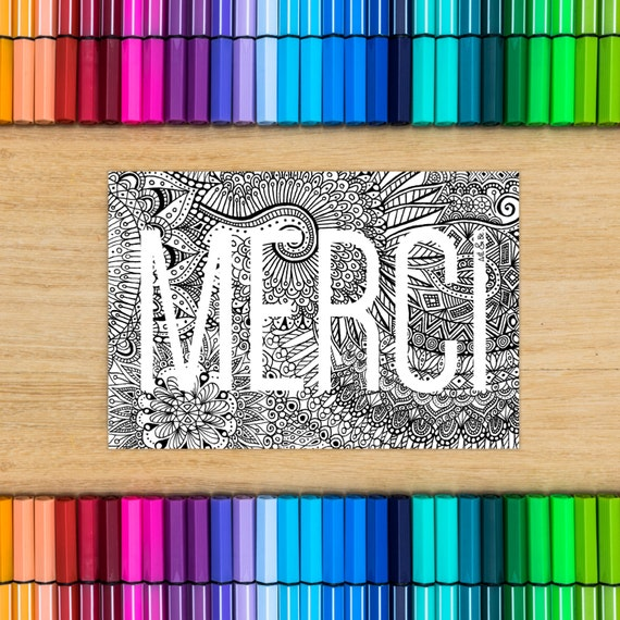 MERCI card - postcard col...