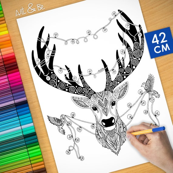 Coloring poster (16,5 inc...