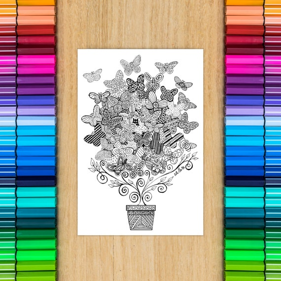 BUTTERFLIES TREE card - c...