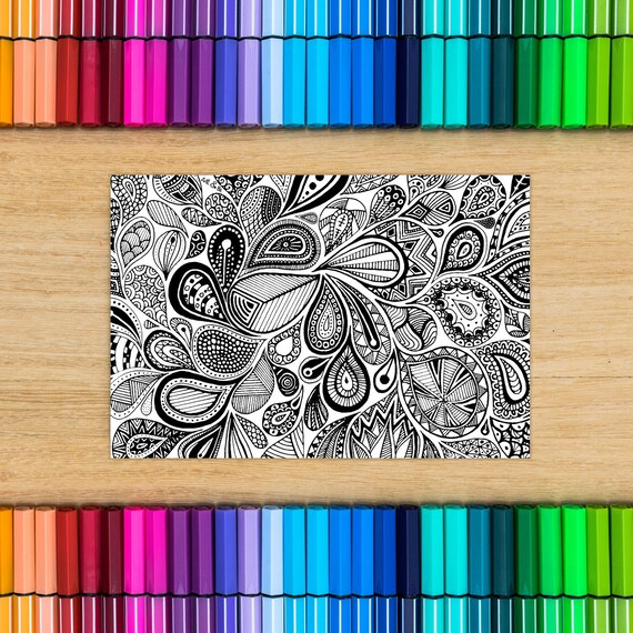 PAISLEY DOODLE card - Col...