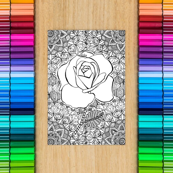 ROSE FLOWER card - colori...