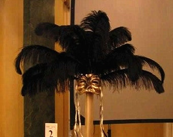 AAA 100PCS Black Ostrich feathers DIY wedding decorations party DIY party 6-32 inches Select