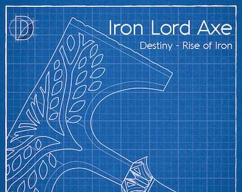 Destiny Iron Lord Axe Pattern