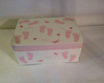 Baby Girl's Storage/Memory/Keepsake Box