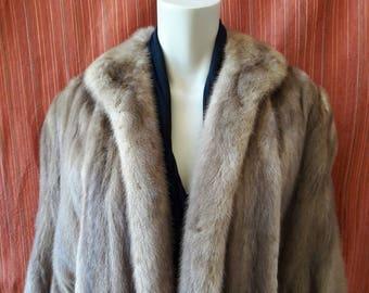 Vintage 1960's Mink Cape Coat