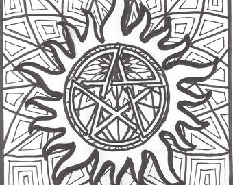 Supernatural Anti Possession Coloring Page