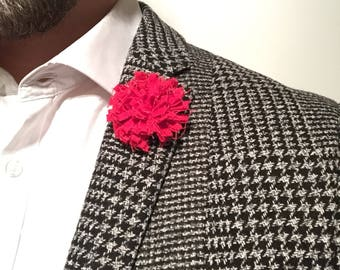 Poppy Red Lapel Flower Flower Lapel Pin Wedding Boutonniere