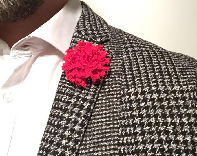 Poppy Red Lapel Flower Flower Lapel Pin Wedding Boutonniere