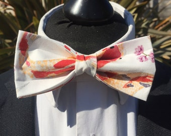 Orange Koi Carp Fish Print Ready Tie Bow Tie