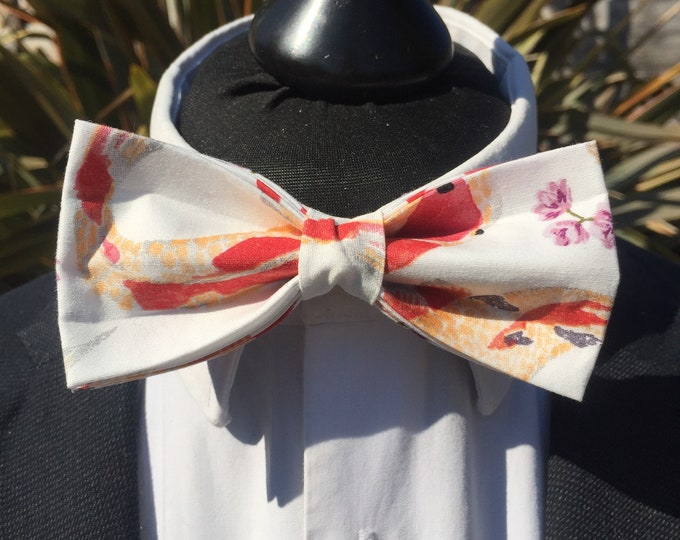 Orange Koi Carp Fish Print Ready Tie Bow Tie