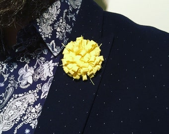 Yellow Lemon Lapel Flower Flower Lapel Pin Wedding Boutonniere