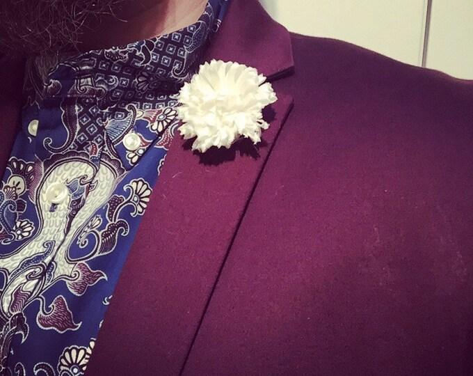 Cream Satin Lapel Flower Flower Lapel Pin Wedding Boutonniere