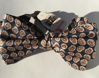 Black Paisley Vintage Self Tie Bow Tie