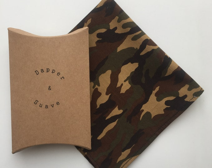 Men's Camouflage Pocket Square Wedding Handkerchief