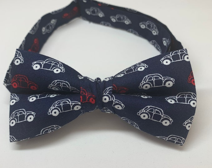 Kids Navy Ready Tie Bow Tie - matching pocket square available