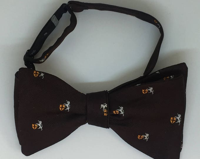 Brown Coat of Arms Vintage Self Tie Bow Tie