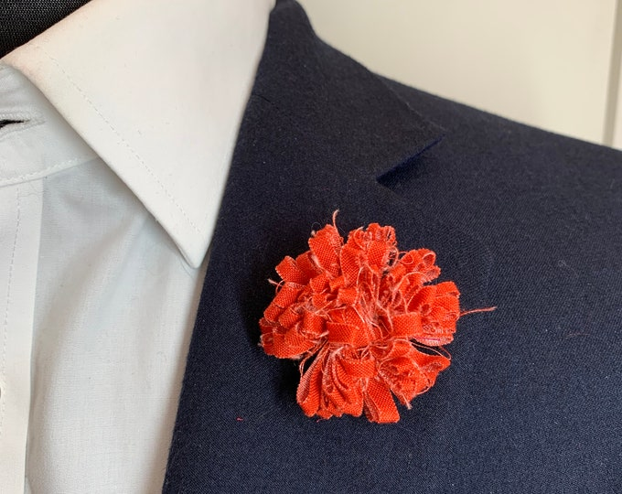 Burnt Orange Boutonniere Lapel Flower Flower Lapel Pin Wedding