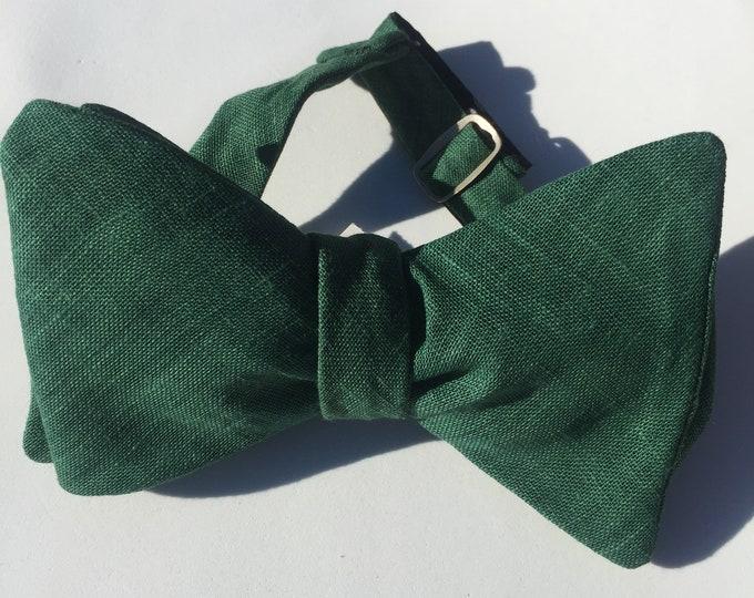 Green Vintage Self Tie Bow Tie