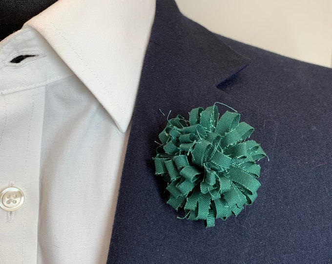 Forest Green Boutonniere Lapel Flower Flower Lapel Pin Wedding