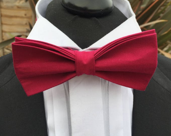 Men's Dark Pink Ready Tie Bow Tie