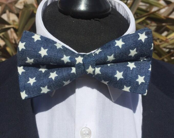 Blue Stars Ready Tie Bow Tie