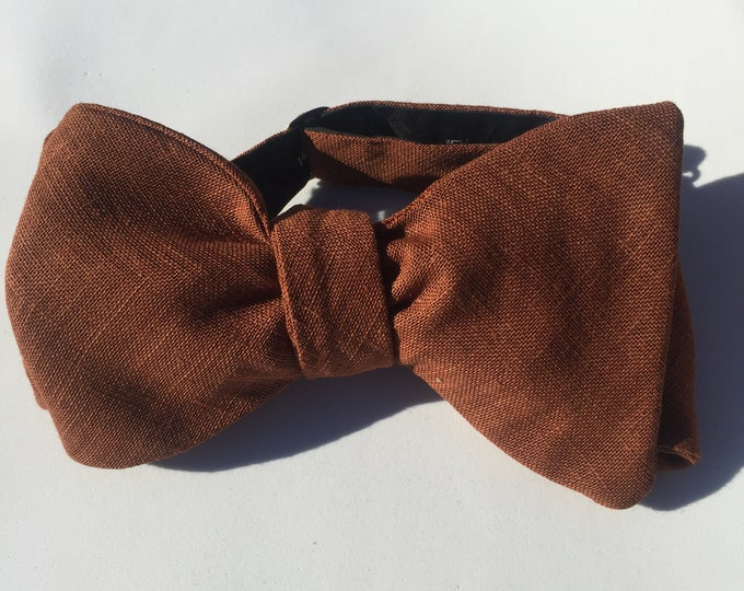 Bronze Vintage Self Tie Bow Tie