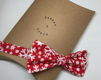 Christmas Men's Red Ready Tie Bow Tie