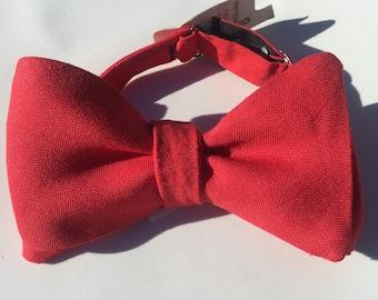 Red Vintage Self Tie Bow Tie