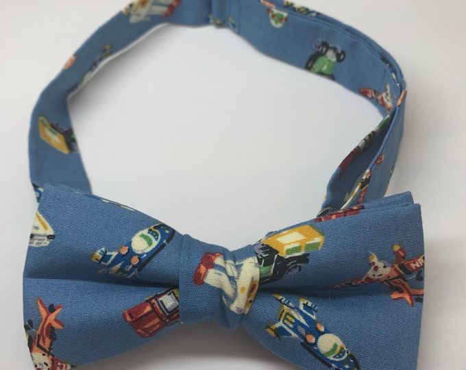 Kids Blue Ready Tie Bow Tie - matching pocket square available