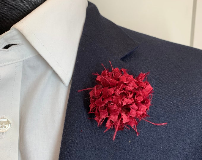 Ruby Red Boutonniere Lapel Flower Flower Lapel Pin Wedding